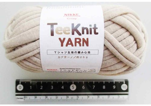 T-shirt yarn, cappuccino