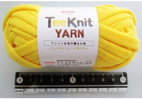 T-shirt yarn, yellow