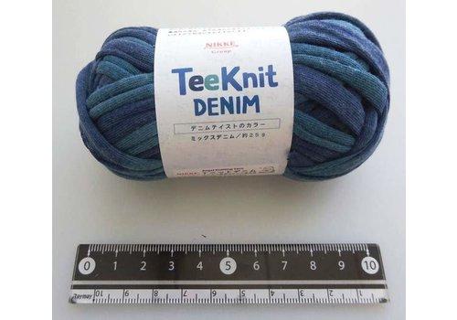 Tee knit yarn mix denim