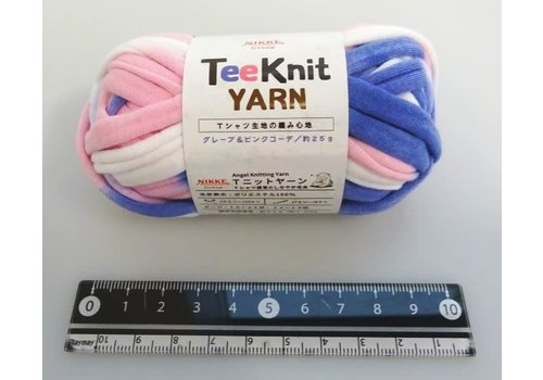 T-shirt yarn, grape and pink