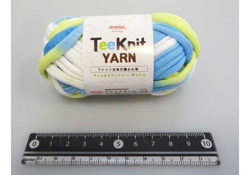 Teeknit yarn lime & sky blue