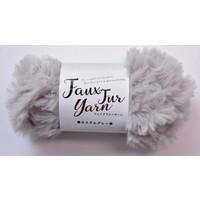Fake fur yarn custom gray