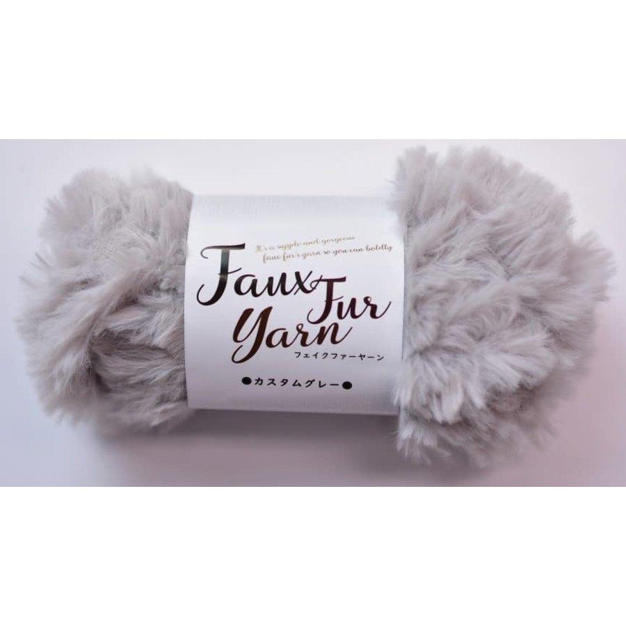 Fake fur yarn custom gray-1