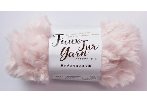 Fake fur yarn natural skin