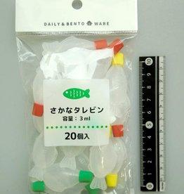 Pika Pika Japan Colorful small sauce bottle fish motif 3ml 20p