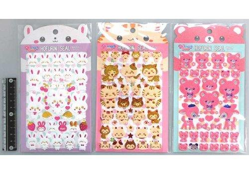 Fluffy fancy stickers