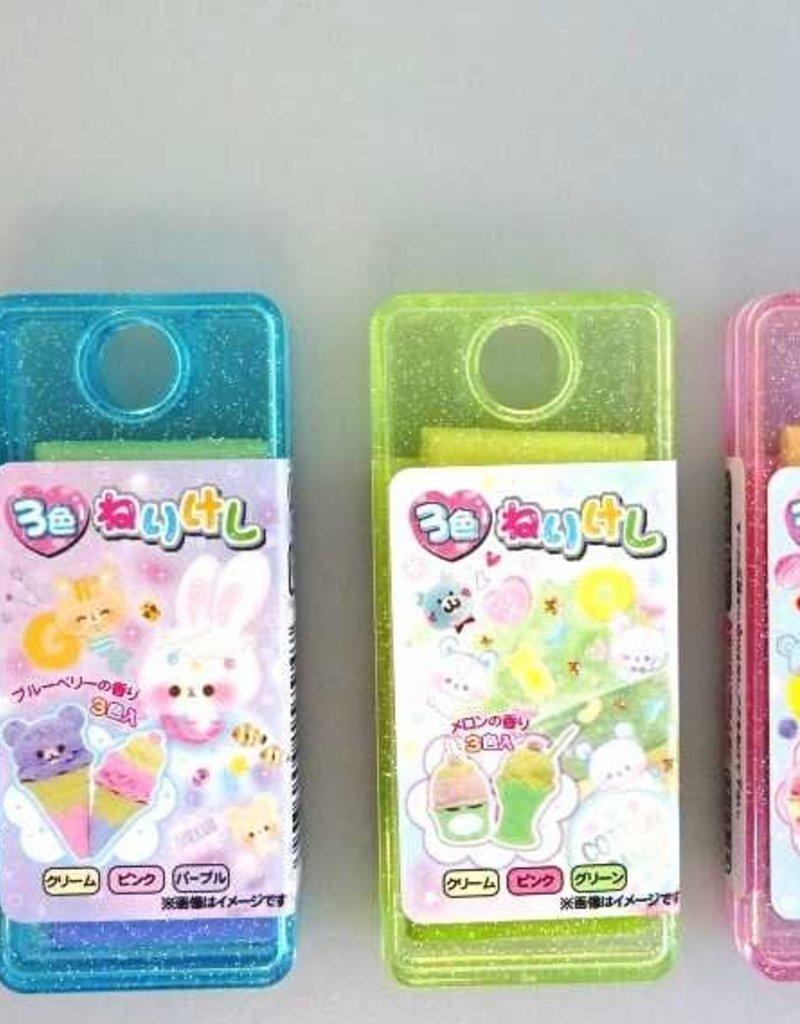 """Pika Pika Japan 3colors kneaded eraser """"Patis siere"""""""
