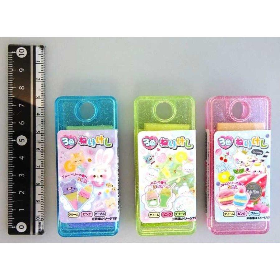 3 colors soft eraser-1