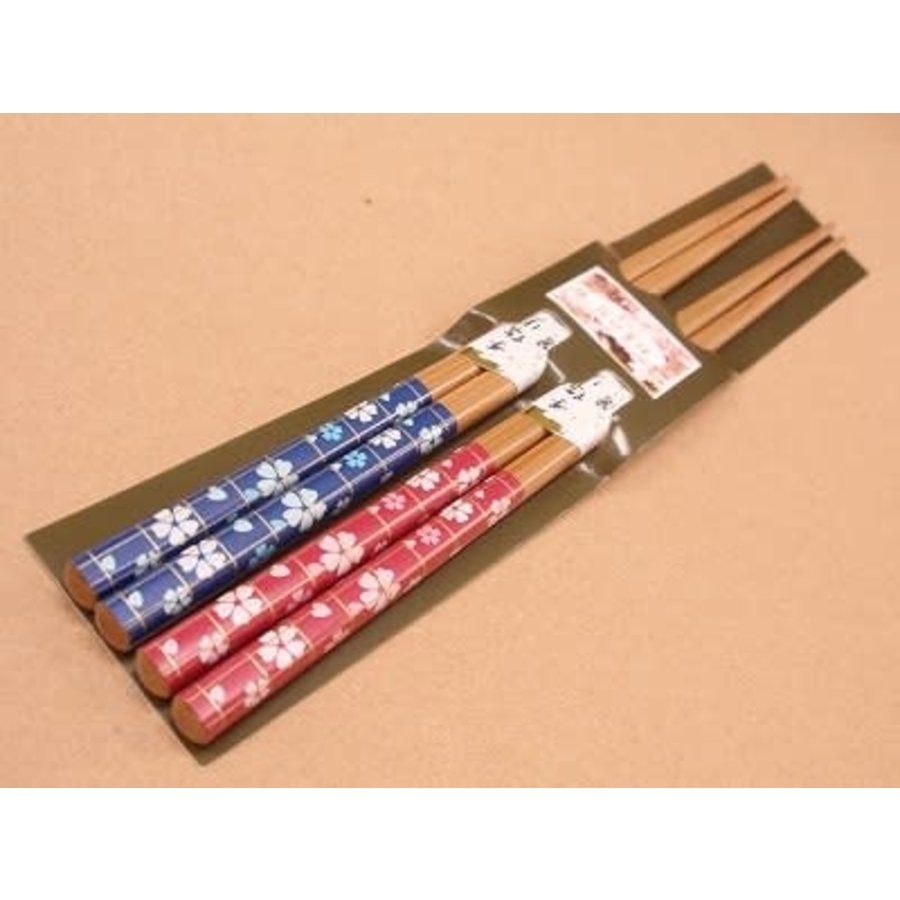 Chopsticks, cherry blossom pattern, 2sets-1