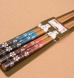 Pika Pika Japan Pair chopsticks 2prs ume