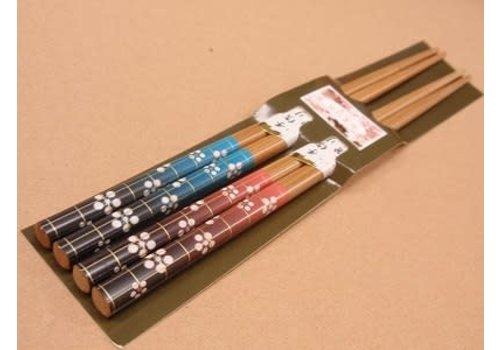 Chopsticks, plum blossom pattern, 2sets