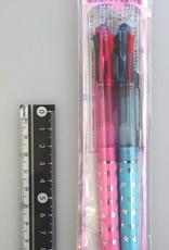 Pika Pika Japan 3 colors leads ballpoint pen cyrstal color 0.5m 2p