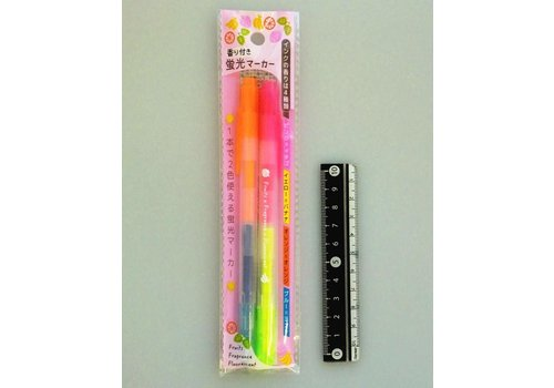 Twin color highlighter 2p