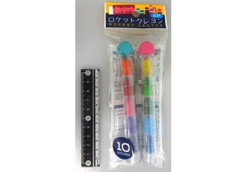 Rocket crayon 2p