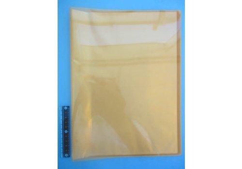 A4 clear file 20p clear orange