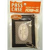 Pass case with extend key chain bk