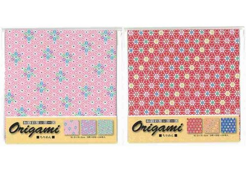 Japanese crape paper chiyogami paper 3 patterns 24s
