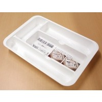 PLASTIC CUTLERY TRAY - WHITE