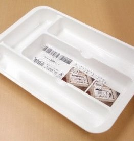 Pika Pika Japan PLASTIC CUTLERY TRAY - WHITE