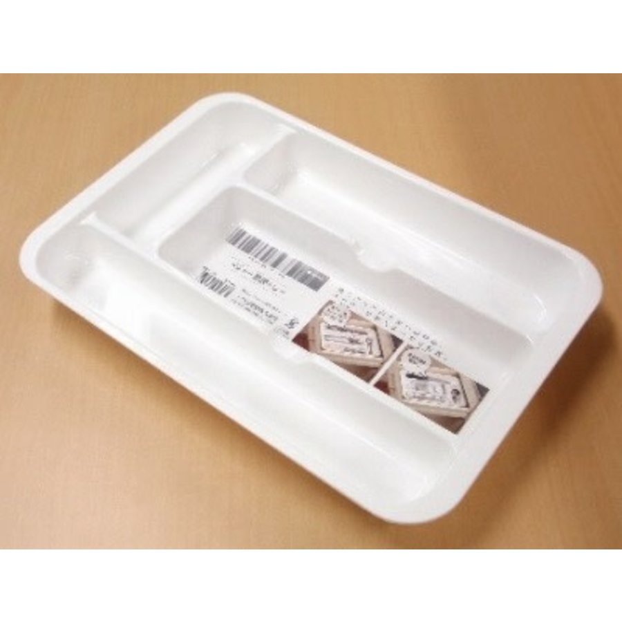 PLASTIC CUTLERY TRAY - WHITE-1