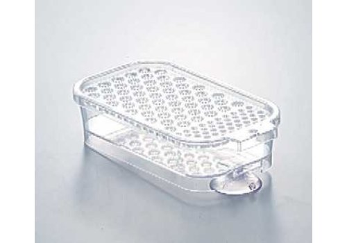 PLASTIC GRATER w/SUCTION - CLEAR