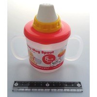 Baby mug spout pastel pink