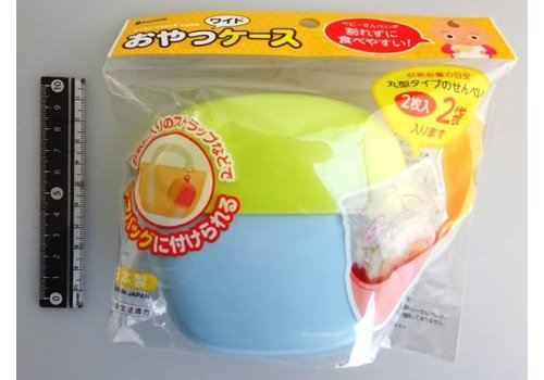 Baby snack case, wide, pastel blue
