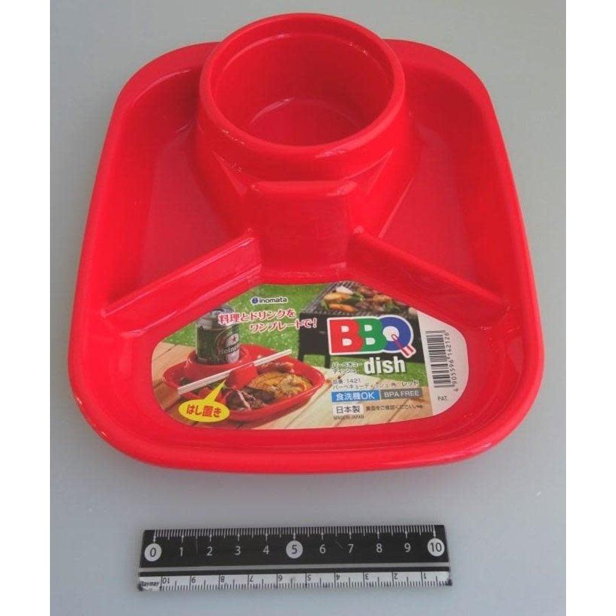 Barbecue dish square red-1