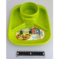 Barbecue dish square green