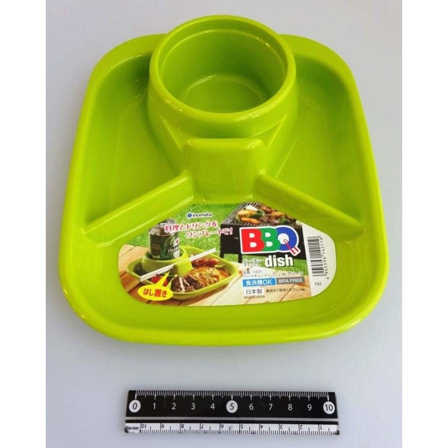 Barbecue dish square green-1