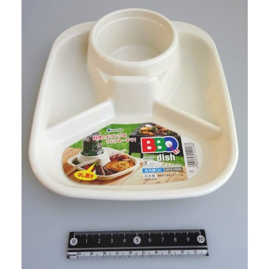?Barbecue dish square ivory-1