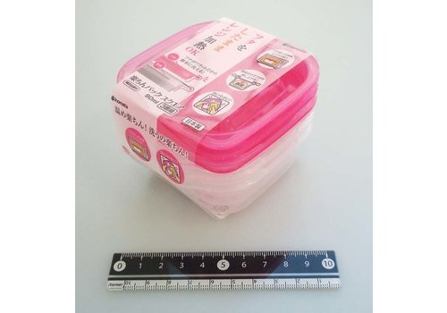 Easy food container square 90ml 3p