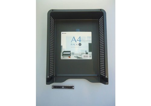A4 desk rack black