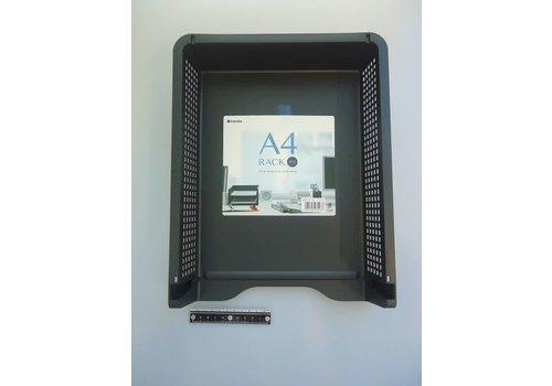 Document storage tray, black