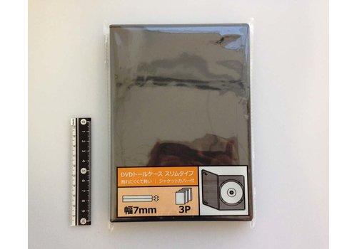 DVD tall case slim 3p black