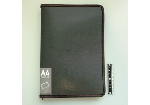 A4 fastener case leather type