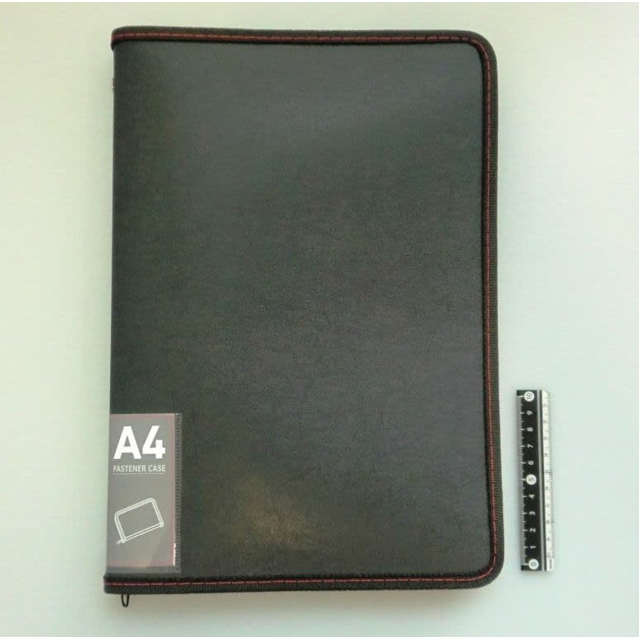 A4 fastener case leather type-1
