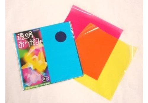 Transparent origami paper