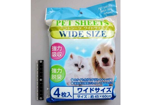 Water-absorbing sheet for pets
