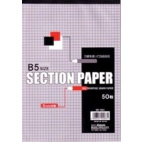 B5 section paper 50s