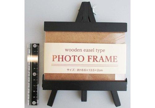 Wooden easel shape photo frame
