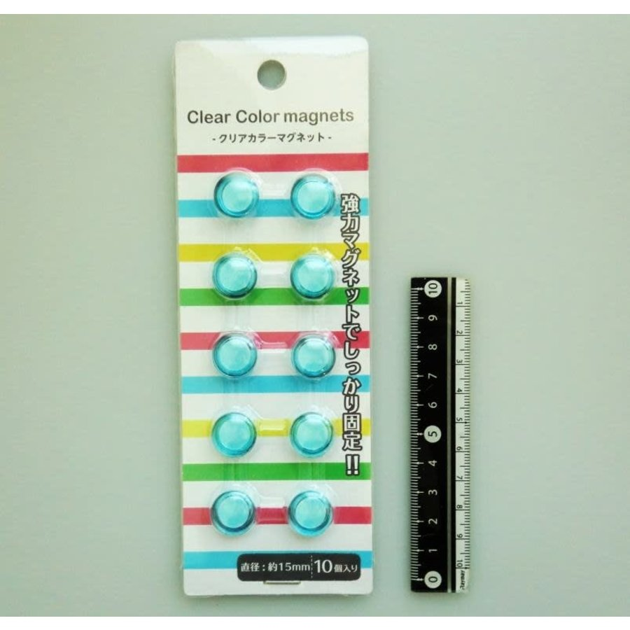 Clear magnet 15mm 10p blue-1
