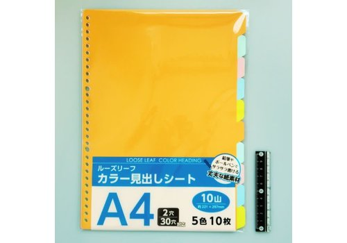 A4 size paper color index 10blocks