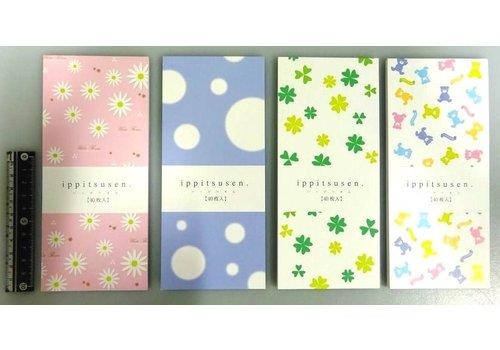 Stationery paper, flower/dot/clover/bear