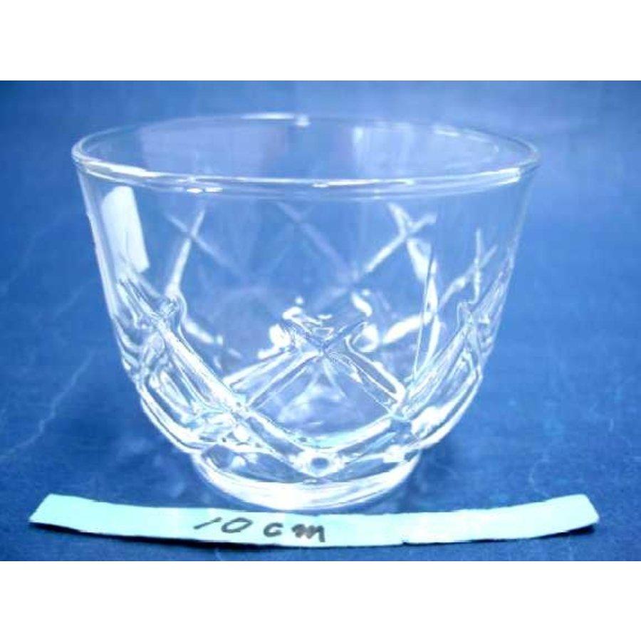 Glas met ruitpatroon, 8,5 cm-1