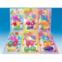Plastic Fruit Set with Magic Tape