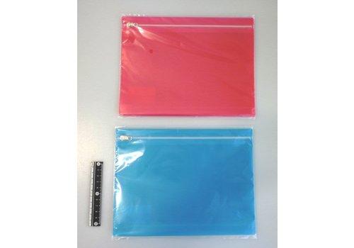 Color slider fastener bag A5 2p