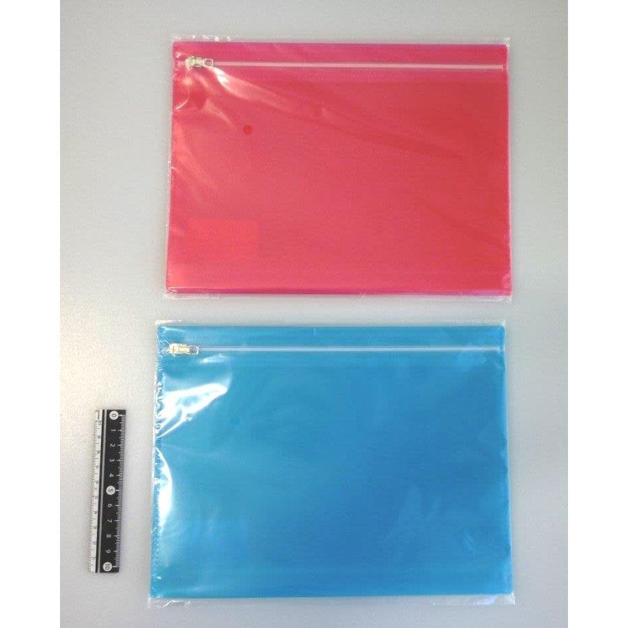 Color slider fastener bag A5 2p-1