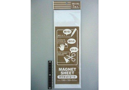 Magnet sheet 30x10 cm WH