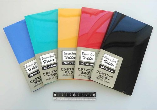 Business card holder with black pockets 60p